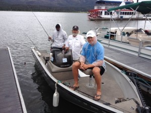 John Cantrell, Randy Moss & Brian Urlacher bass fish'n at Big Bear